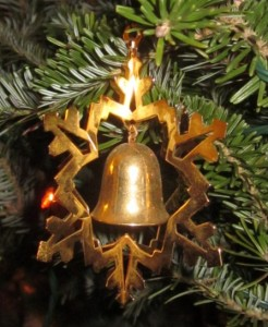 Bell ornament on my Christmas tree