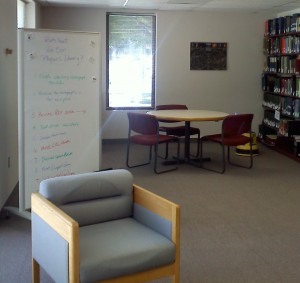 Whiteboard in Physics Library